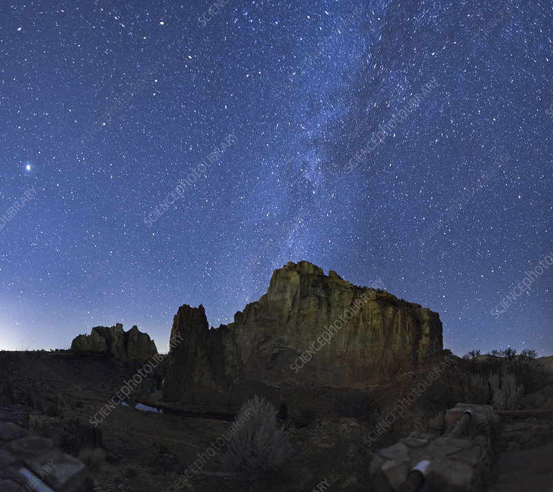 Smith Rock and Milky Way