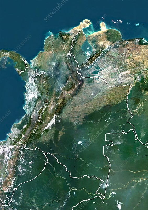Colombia, satellite image