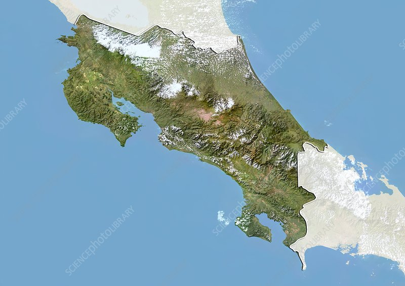 Costa Rica, satellite image