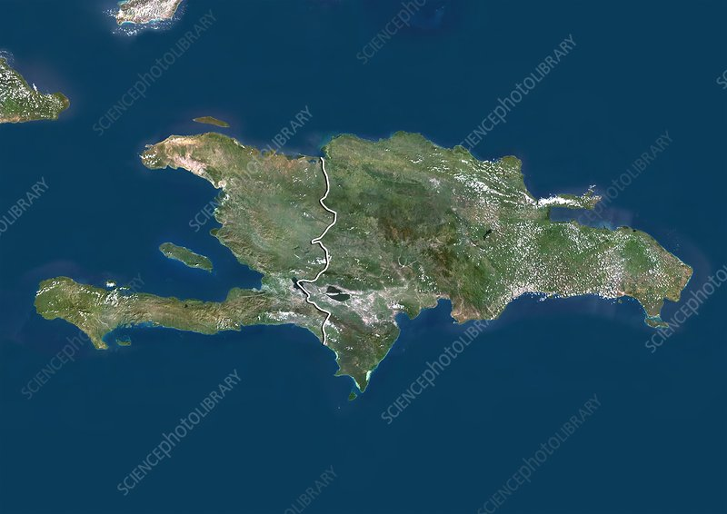 Dominican Republic, satellite image