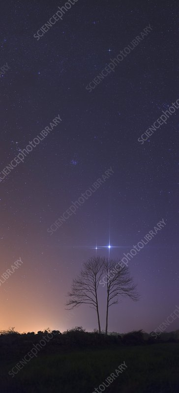Conjunction of Venus and Jupiter