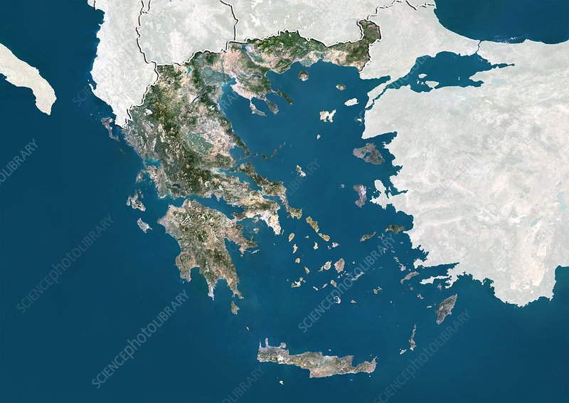 Greece, satellite image