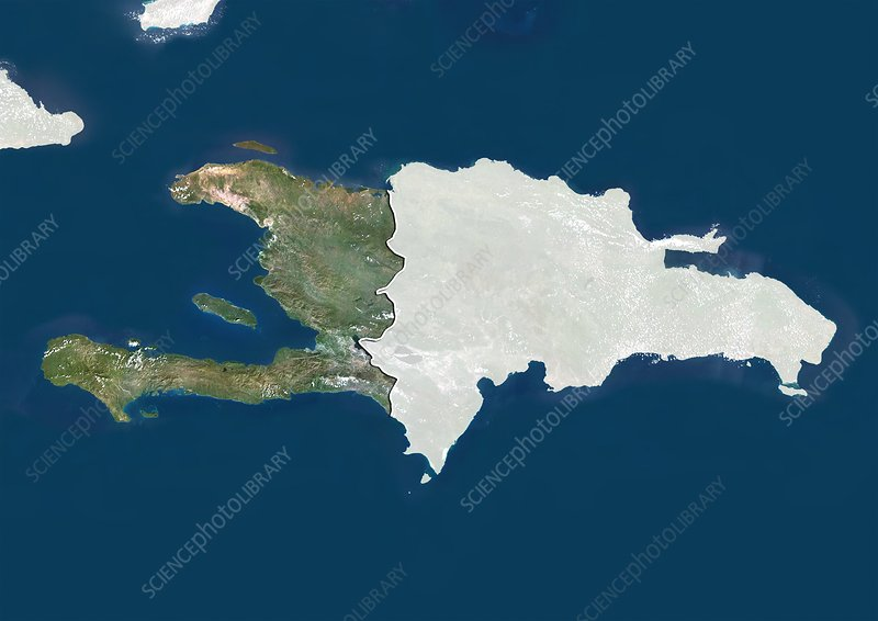 Haiti, satellite image