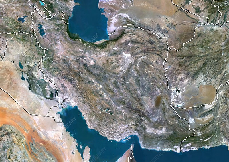 Iran, satellite image