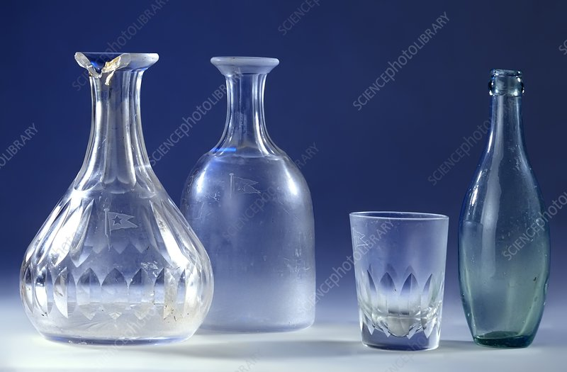 Glassware from the Titanic