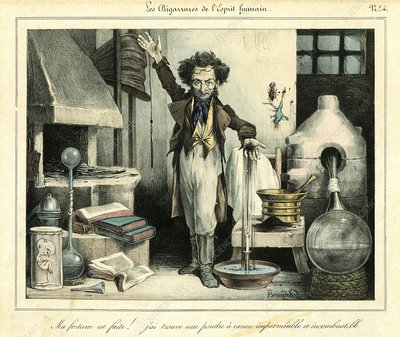 Scientist, 19th-century satire