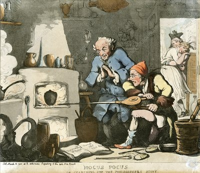 Alchemist at work, 19th century