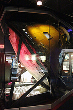 Apollo 13 command module on display