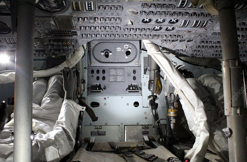 Apollo 13 command module interior
