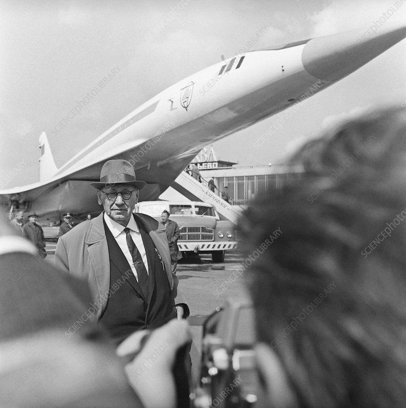 Andrei Tupolev, Soviet aircraft designer - Stock Image
