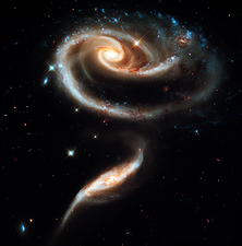 Arp 273 interacting galaxies, HST image