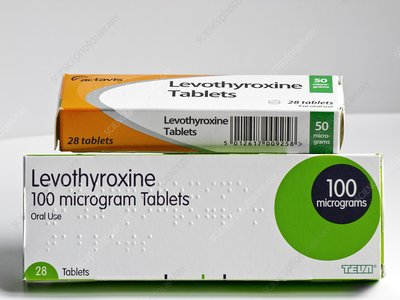 Levothyroxine tablets in packaging