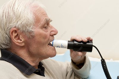 Spirometry test of a COPD patient