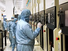 Microchip factory clean room
