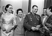 Yuri Gagarin and wife Elena, 1962