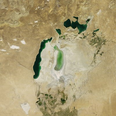 Aral Sea, satellite image, 2011