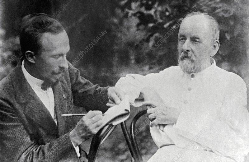 Altaisky with rocket pioneer Tsiolkovsky