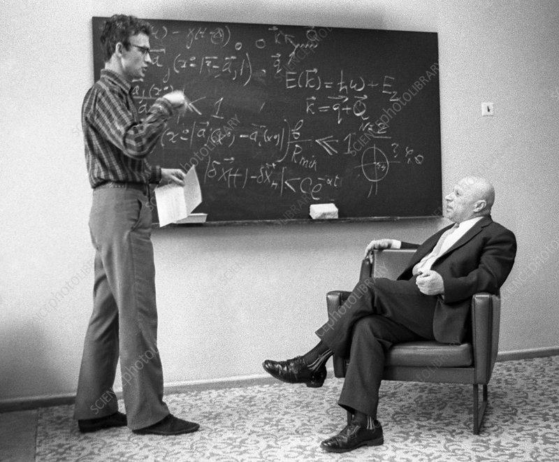 Physicist Davydov and student