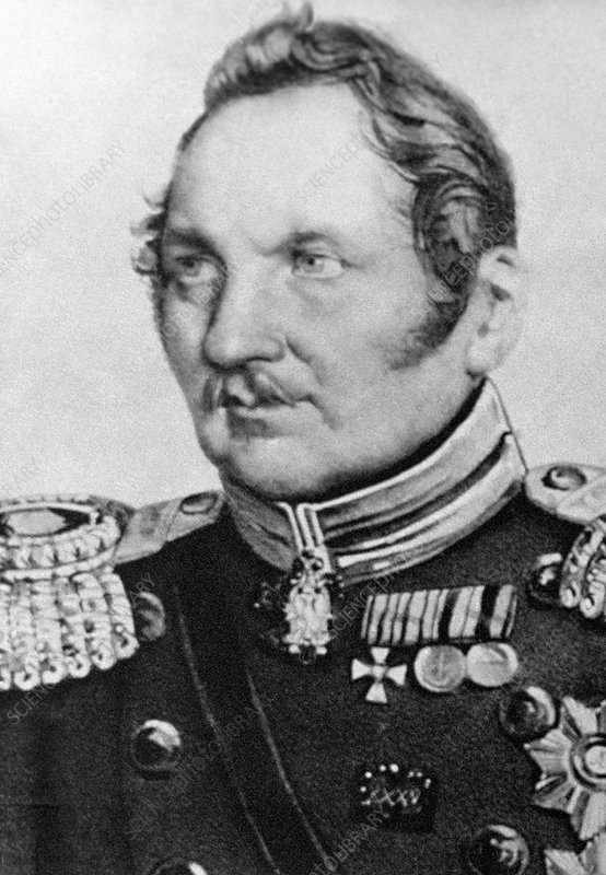 Fabian Bellingshausen, Russian explorer - Stock Image - C013/1266 - Science  Photo Library