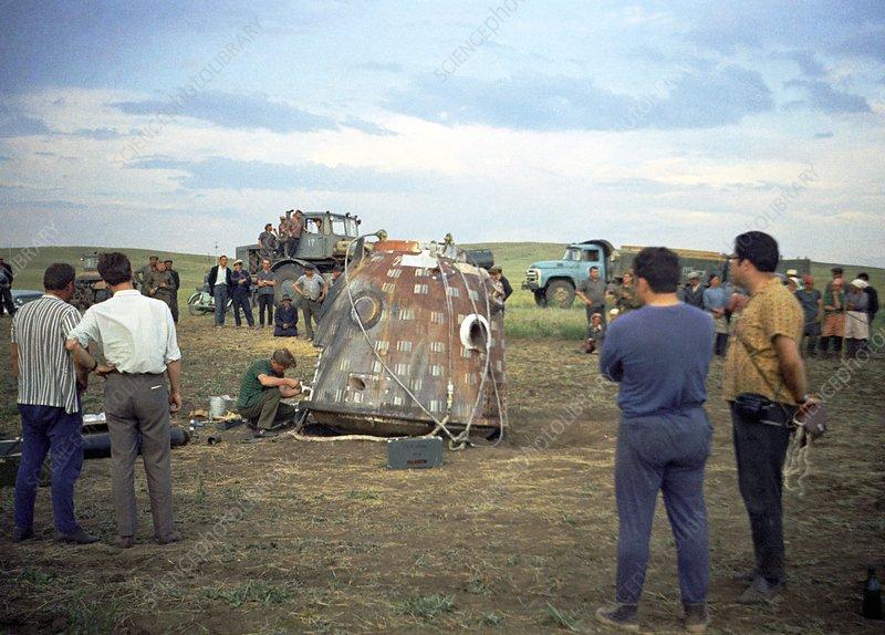 Soyuz 9 spacecraft landing, 1970