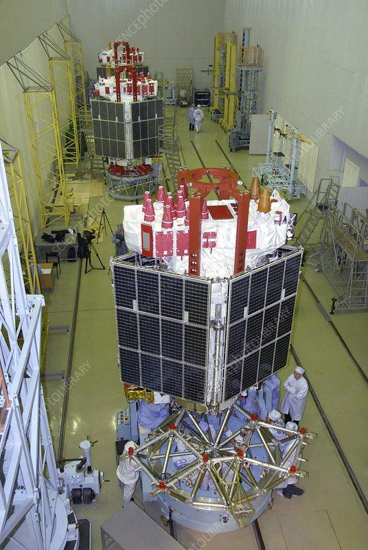 Glonass Satellite Assembly 2008 Stock Image C013 1330