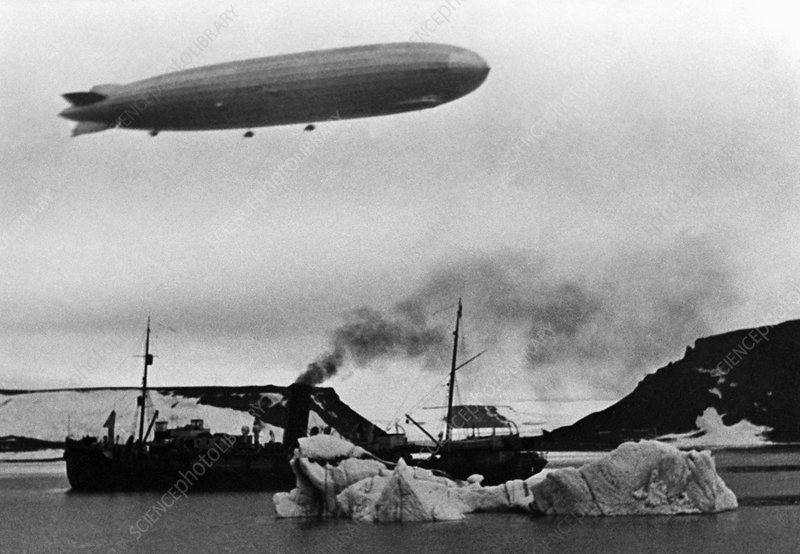 Graf Zeppelin and Malygin, Arctic, 1931