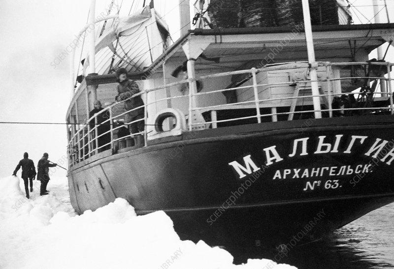 Malygin icebreaker in the Arctic, 1931