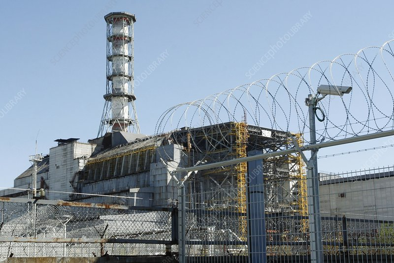 Chernobyl reactor containment area, 2008