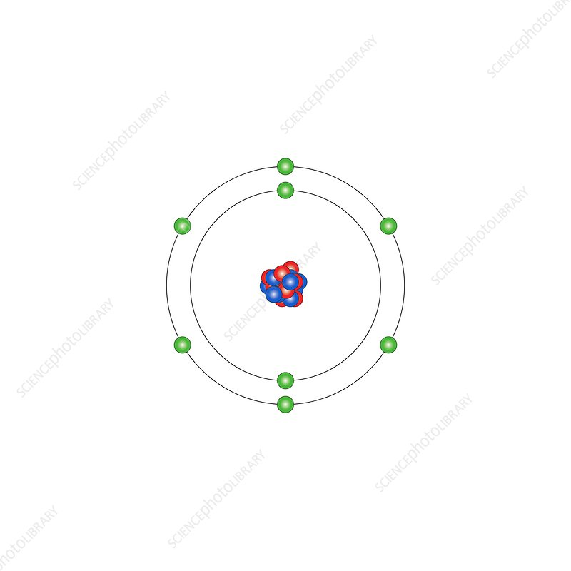 diagram of o2 oxygen, atomic structure - stock image - c013/1508 ... #10