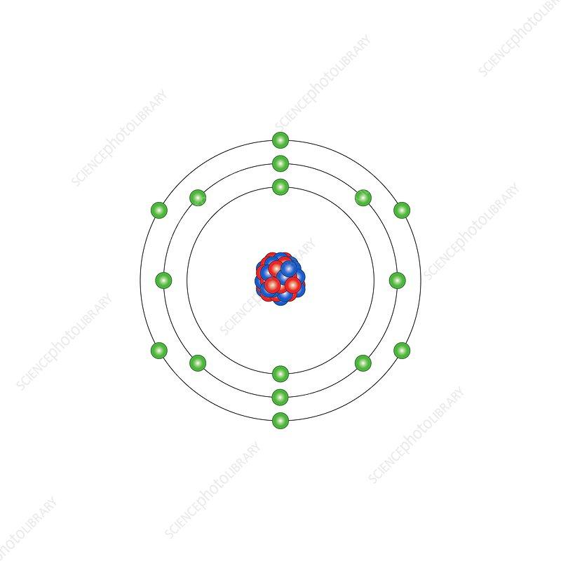 sulfur  atomic structure - stock image c013  1529