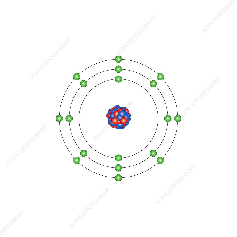 argon  atomic structure - stock image c013  1531