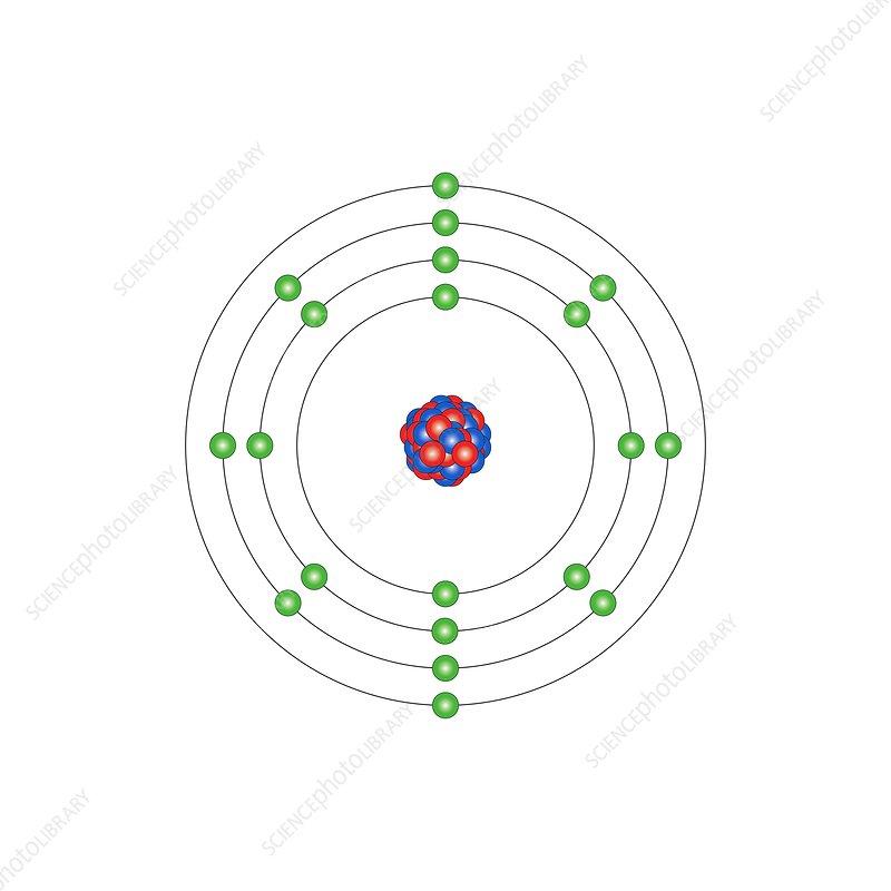 Calcium Atomic Structure Stock Image C0131533 Science Photo
