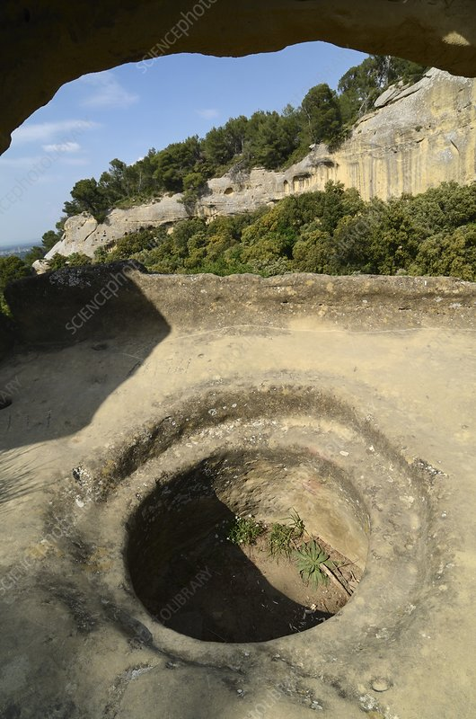 Protohistoric storage silo