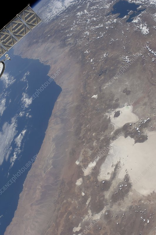 Peru and Bolivia from space, ISS image