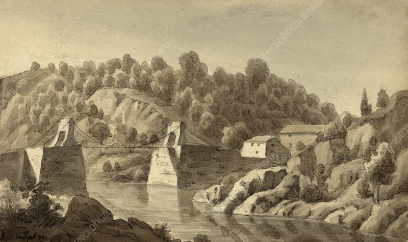 Chain Bridge at Little Falls, USA, 1839
