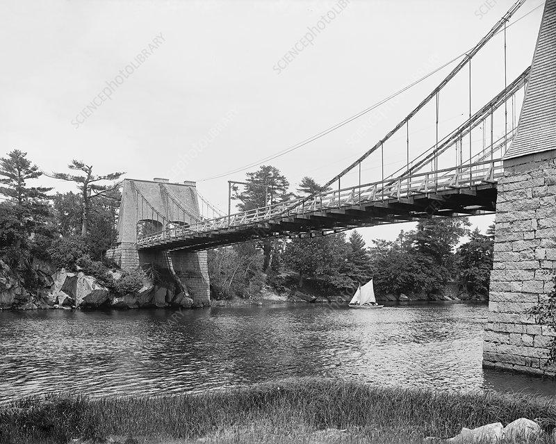 Chain Bridge at Newburyport, USA, 1900