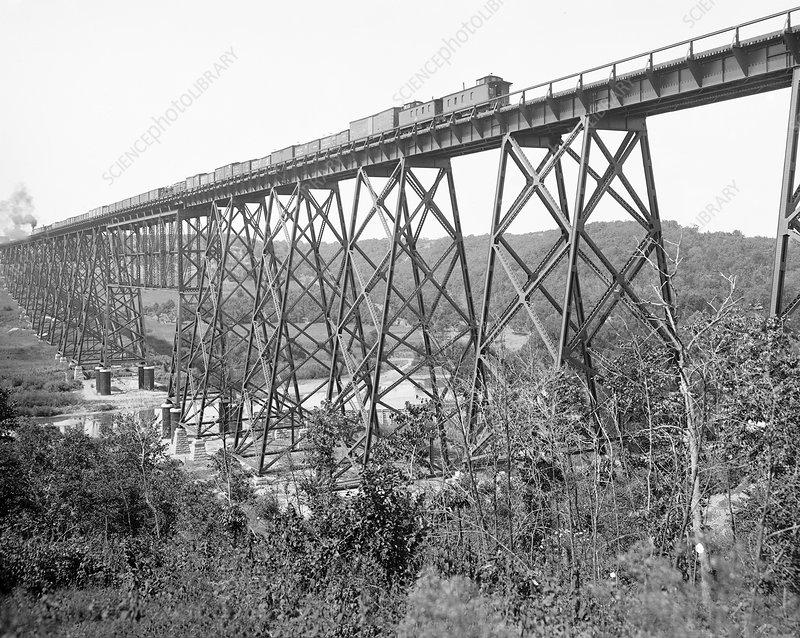 Railroad viaduct near Boone, USA, 1901