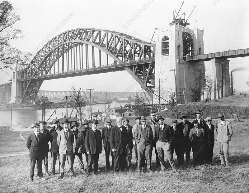 Hell Gate Bridge engineers, 1916