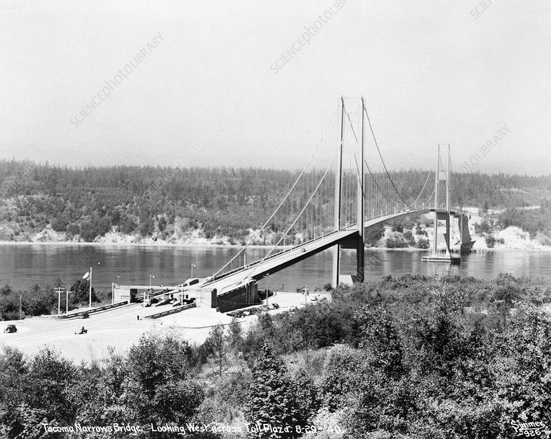 First Tacoma Narrows Bridge, 1940