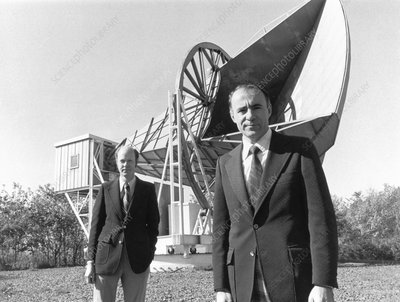 Wilson and Penzias, US astrophysicists