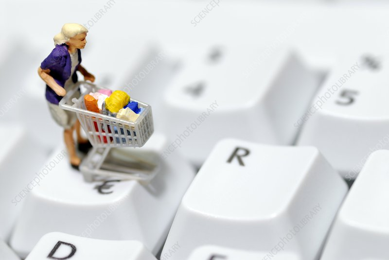 Online shopping, conceptual image