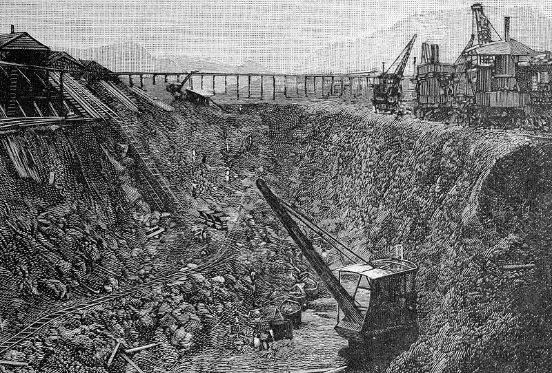 Panama Canal construction, 19th century