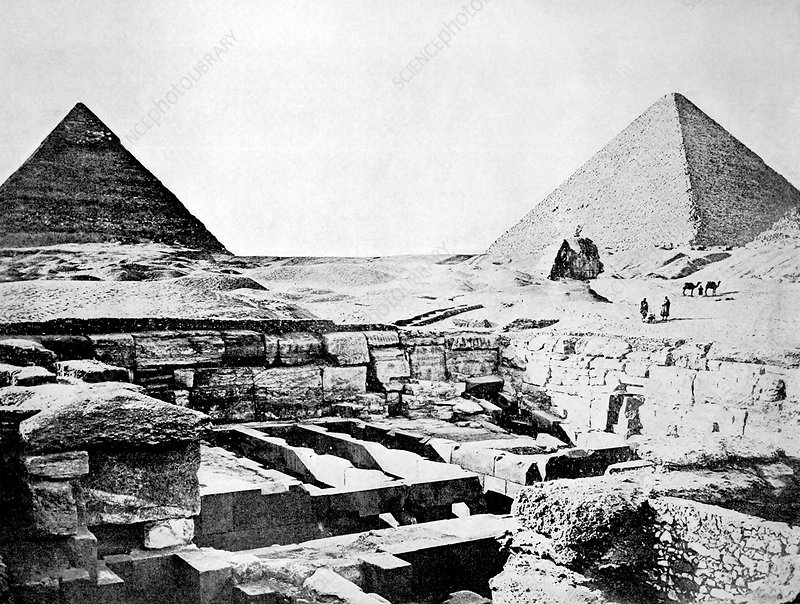 Pyramids of Giza, Egypt, 1880s