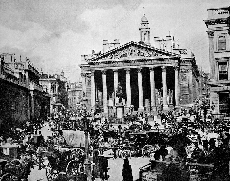 Royal Exchange, London, 1880s