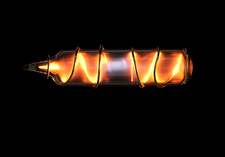 Neon gas, electric discharge plasma