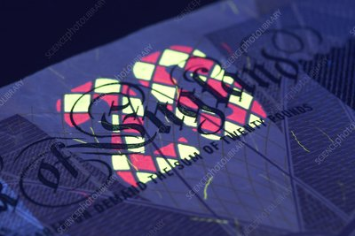 Banknote, UV anti-counterfeit marker