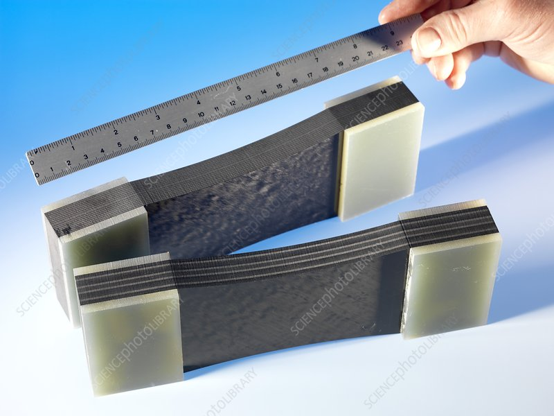 Composite material, compression testing