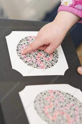 Childrens colour blindness eyesight test