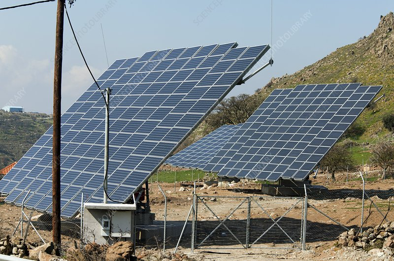 Solar panels, Greece