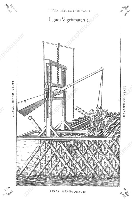 Pile driver, 16th century